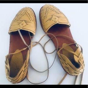Vintage Huarache Sandals Huaraches Lace Up 8